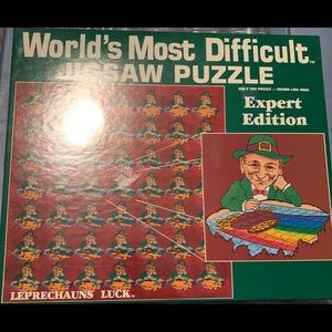 Other - NEW SEALED 1987 WORLD'S MOST DIFFICULT PUZZLE
